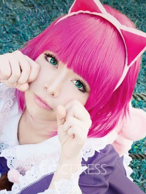 Ericdress Cute Cosplay Wigs Short Straight Pink Synthetic Hair