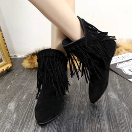 Ericdress Popular Tassels Decoration Ankle Boots