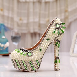 Ericdress Ethnic Green Crystal Wedding Shoes