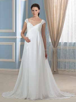 Ericdress Beautiful Straps Lace A Line Maternity Wedding Dress