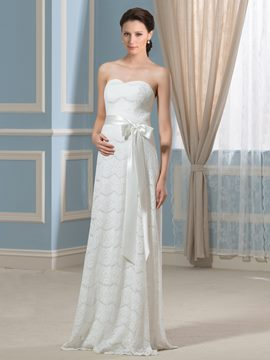 Ericdress Beautiful Sweetheart Lace Maternity Wedding Dress