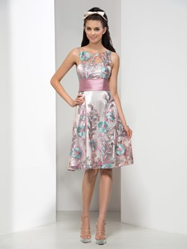 Ericdress Scoop Appliques Sequins Ribbons Cocktail Dress