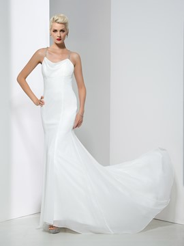 Ericdress Fancy Spaghetti Straps Mermaid Wedding Dress