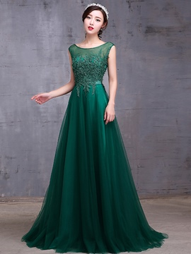 Ericdress A-Line Cap Sleeves Lace Evening Dress