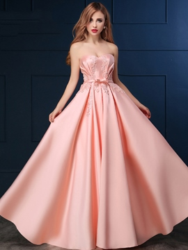 Ericdress a-ligne Sweetheart Appliques Bowknot Lace-Up Prom Dress