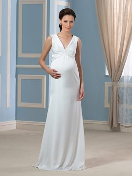 Ericdress Eleagant V cou gaine Cloumn maternité Wedding dress