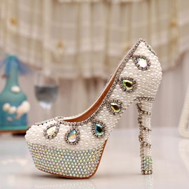 Ericdress Shining Crystal Stiletto Heels Wedding Shoes