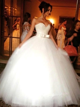Ericdress Beautiful Bowknot Strapless Sweetheart Ball Gown Wedding Dress