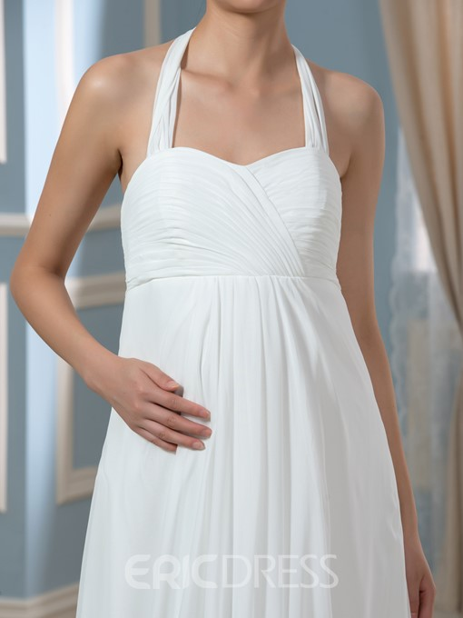 Ericdress Comfortable Halter Empire Maternity Wedding Dress