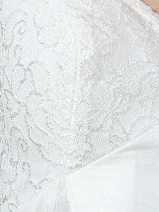 Ericdress Cap Sleeves Lace Maternity Wedding Dress