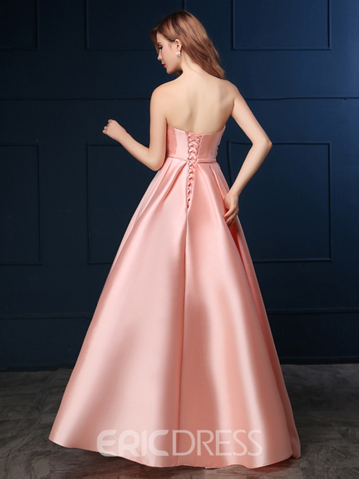 Ericdress A-Line Sweetheart Appliques Bowknot Lace-Up Prom Dress