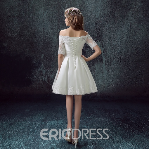 Ericdress Off the Shoulder Half Sleeve Homecoming Dress