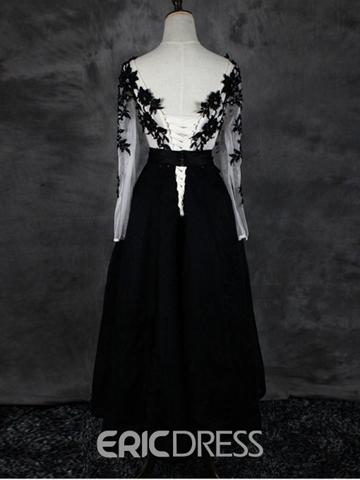 Ericdress Scoop Appliques Beading Lace Evening Dress