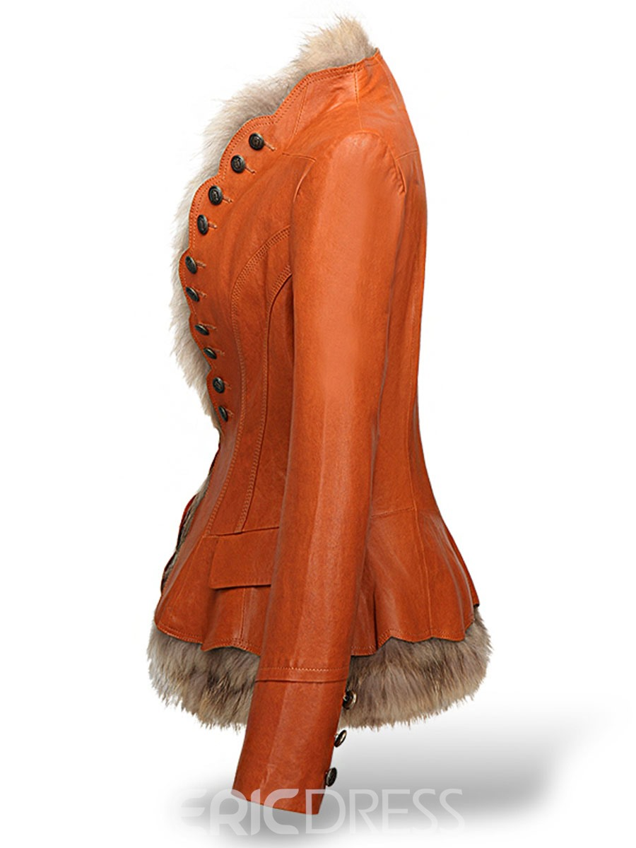 Ericdress Wrapped Luxury Faux Fur Coat