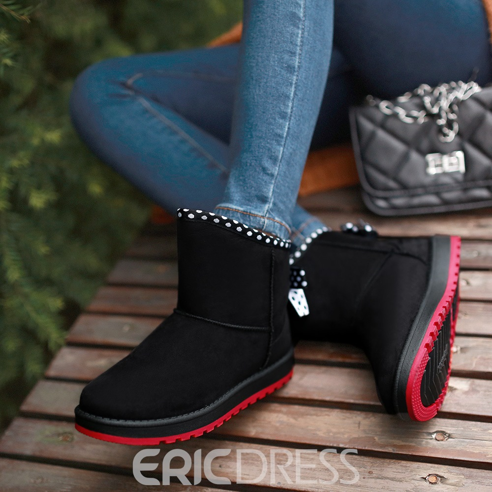 Ericdress Sweet Girl Bowknot Decoration Snow Boots