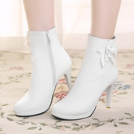 Ericdress Flower Decoration High Heel Boots