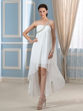Ericdress Beautiful One Shoulder Asymmetry Wedding Dress
