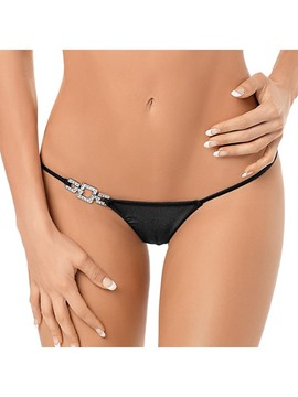 Ericdress Black Sexy Low Waist Diamonds Thongs
