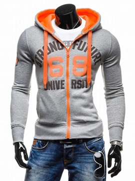 Ericdress Thicken Quilted Zip Slim Sports Winter Warm Men's Hoodie