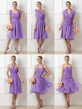 Ericdress Beautiful Convertible Knee Length Bridesmaid Dress
