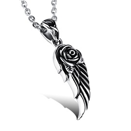 Angel Wing Shaped Pendant Men's Necklace