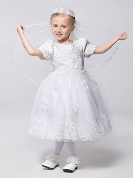 Ericdress Sweet Tea Length Princess Flower Girl Dress