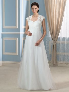 Ericdress Beautiful Sweetheart A Line Maternity Wedding Dress with Jacket
