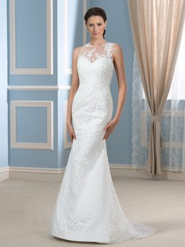 Ericdress Fancy Jewel Sleeveless Mermaid Wedding Dress