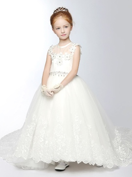 Ericdress belle princesse Tulle Flower Girl Dress