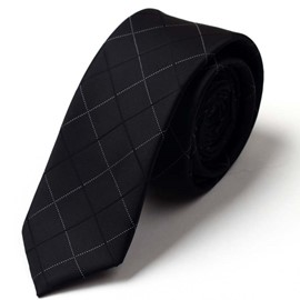 Ericdress Classic Black Grid Men's Tie
