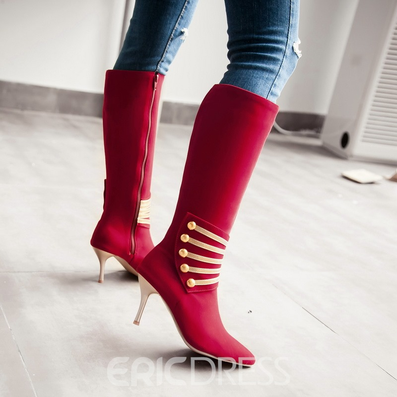 Ericdress Popular Stiletto Heel Knee High Boots
