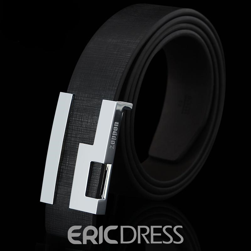 Ericdress Checked Smooth Men's Belt
