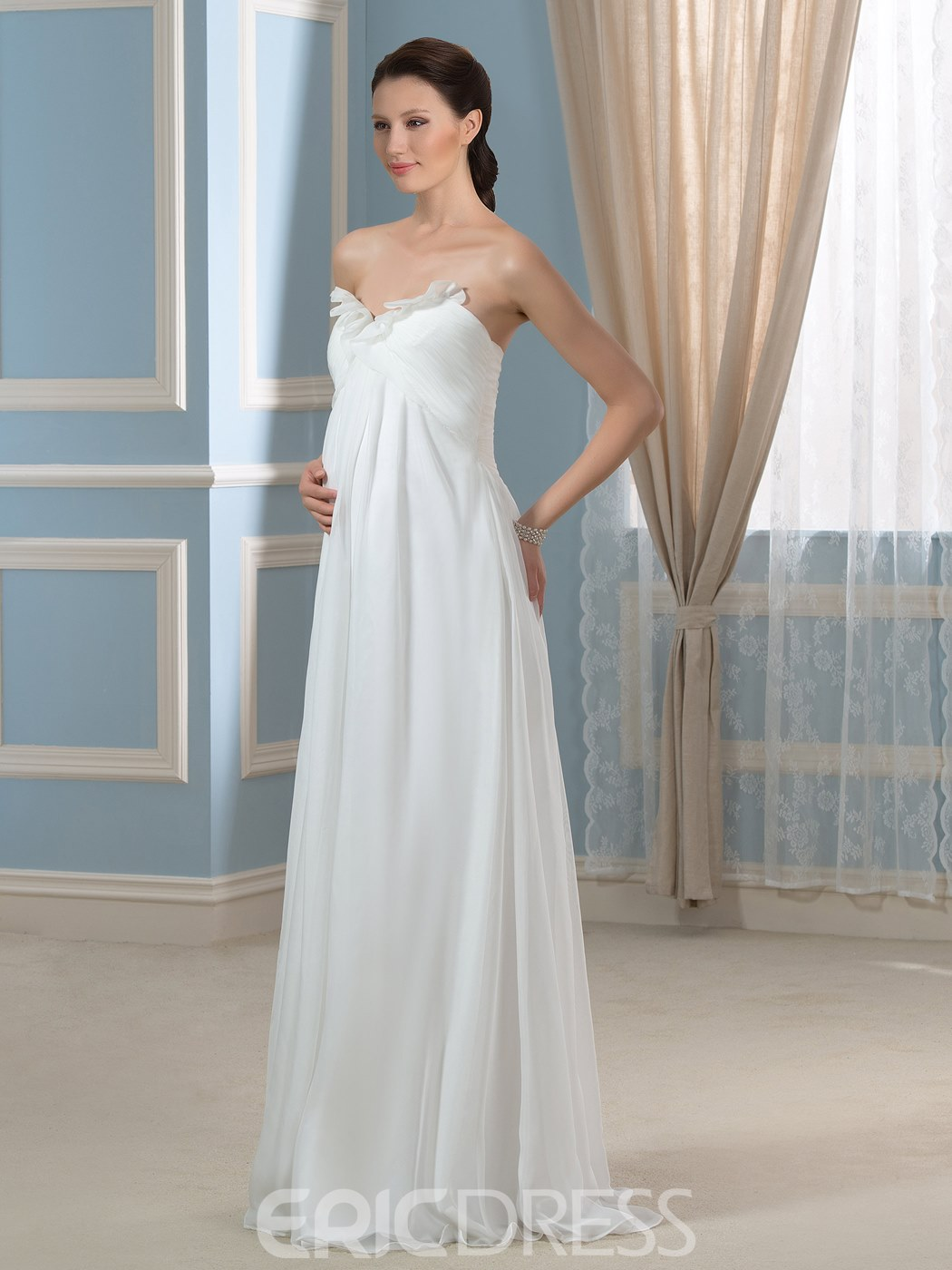 Ericdress Pretty Sweetheart A Line Empire Maternity Wedding Dress