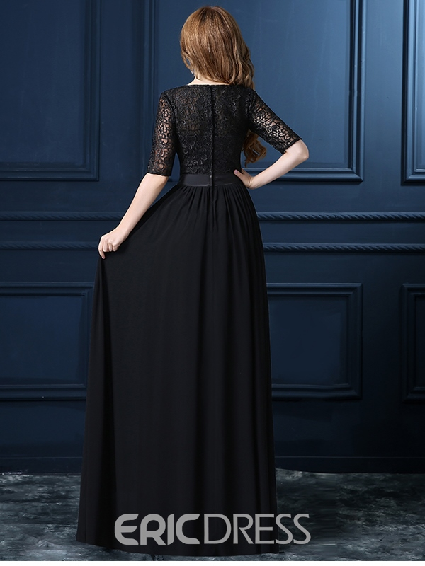 Ericdress A-Line Sashe Lace Evening Dress