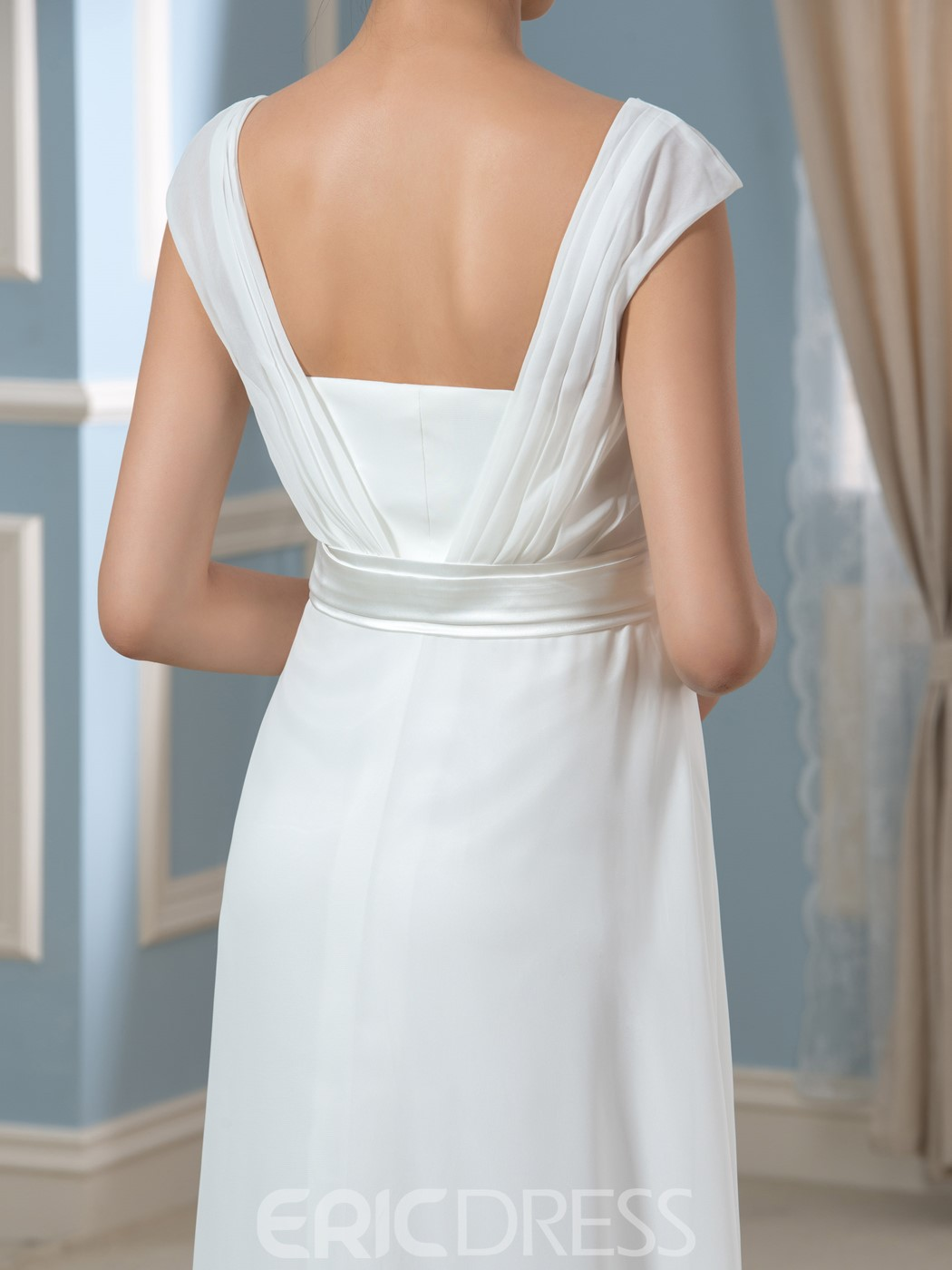 Ericdress Simple Square A Line Empire Maternity Wedding Dress