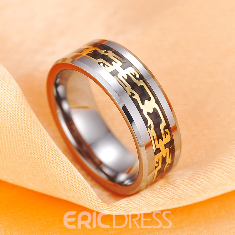 Vintage Pattern Decorated Men's Ring