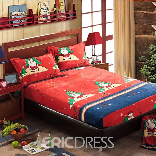 Flannel Character Reactive Printing Bedding Set