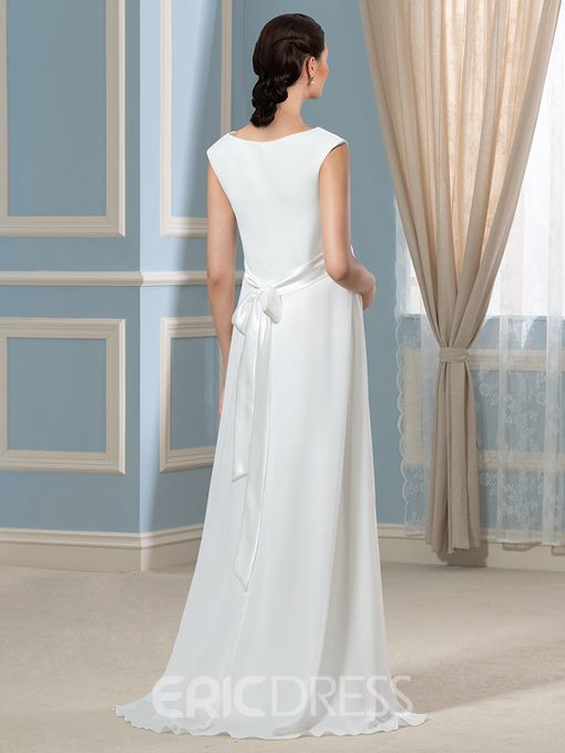 Ericdress Casual Jewel A Line Maternity Wedding Dress