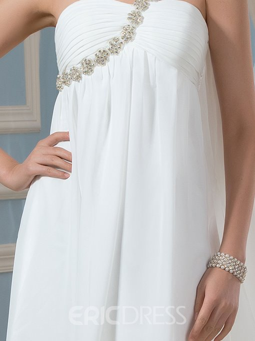 Ericdress One Shoulder High Low Beach Wedding Dress