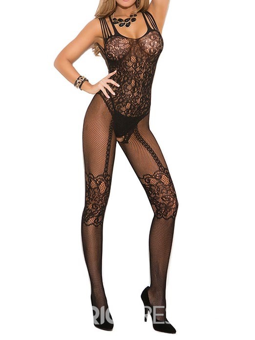 Ericdress Fish Net Jacquard Open Crotch Women Pantyhose Bodystocking