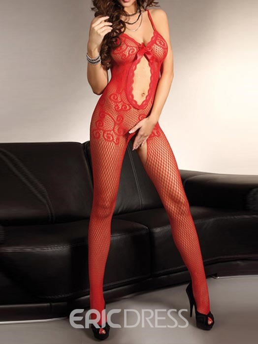 Ericdress Plus Size Hollow Fish Net Sexy Women Pantyhose Bodystocking