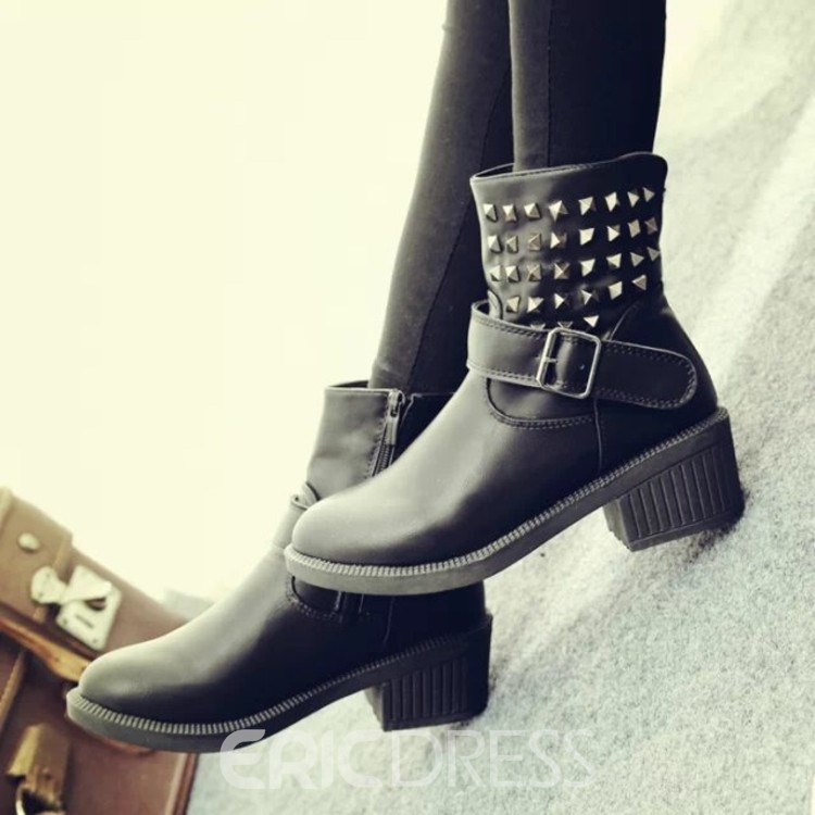 Ericdress Cool Rivets Decoration Ankle Martin Boots