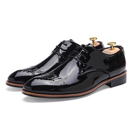 Ericdress Patent Leather Pointed Toe Men's Oxfords