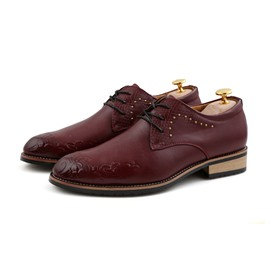Ericdress Pointed Toe Square Heel Lace up Men's Oxfords
