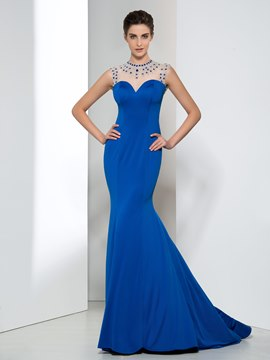 Ericdress Mermaid Bateau Beading Evening Dress