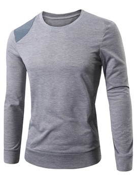 Ericdress Patched Crewneck Men's T Shirt