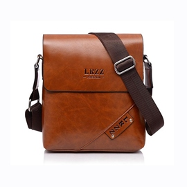 Ericdress Waxy Leather Men's Crossbody Bag