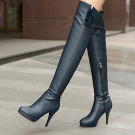 Ericdress Graceful Side Zipper Knee High Boots