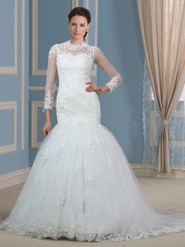 Ericdress Amazing Jewel Appliques Mermaid Wedding Dress