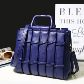 Ericdress Stripe Weaved PU Handbag